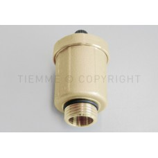 Никелированный автоматический воздухоотводный клапан Tiemme, диаметр 34 мм ; 1/2