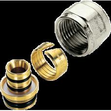 Адаптер Tiemme для труб AL-PEX (Комплект из никел. гайки, кольца и вкладыша для соединений 1/2