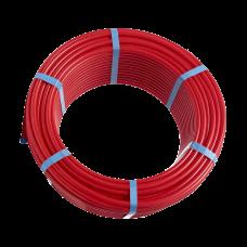 Трубаиз сшитогойполиэтилена HoobsPEXa/EVOH c антикислородным слоем16х2.0цветкрасный(бухта100м)