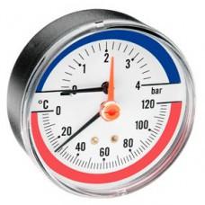 Термоманометр F+R 818/4 (Ø80мм, 1/2