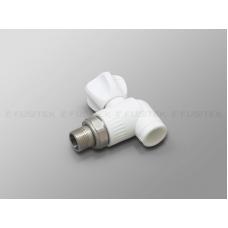 Шаровой кран для радиатора угловой Ø25х3/4  Fusitek PP-R