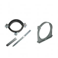 Хомут для монтажа труб (комплект: хомут металл. обрезиненый, шпилька, дюбель) 50