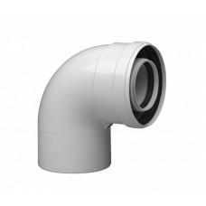 Уголок 90° для газоотвода Protherm Ø60/100мм, алюминий крашеный