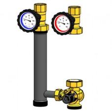 Насосная группа Smart Install с трехходовым смесительным клапаном, без насоса и теплоизоляции