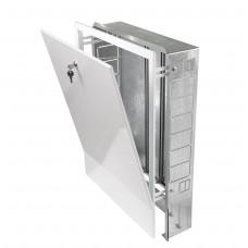 Шкаф распределительный встроенный для коллектора до 10 отводов 670x125x744 мм