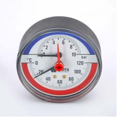 Термоманометр F+R 818/10 (Ø80мм, 1/2