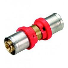 Муфта пресс двусторонняя для труб Tiemme TUBO AL-PEx Ø 20x2,0 - 20x2,0